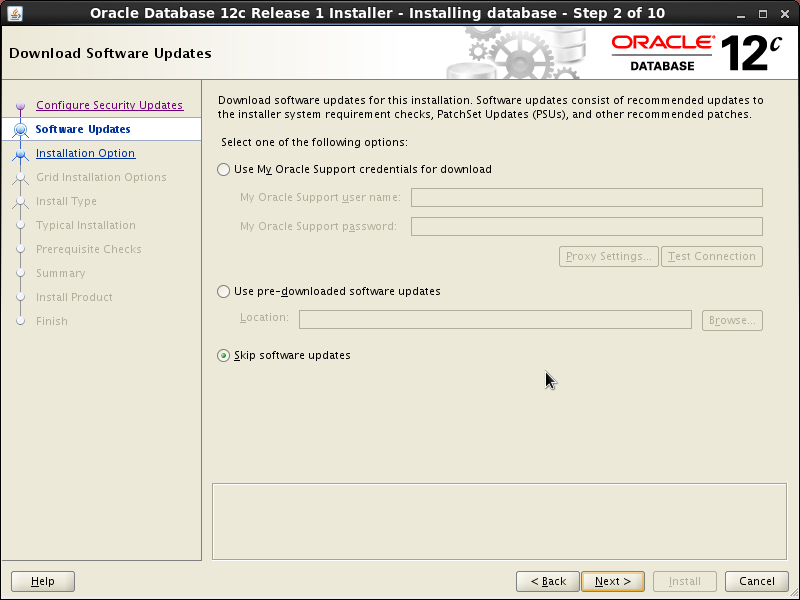 Screenshot-Oracle Database 12c Release 1 Installer - Installing database - Step 2 of 10