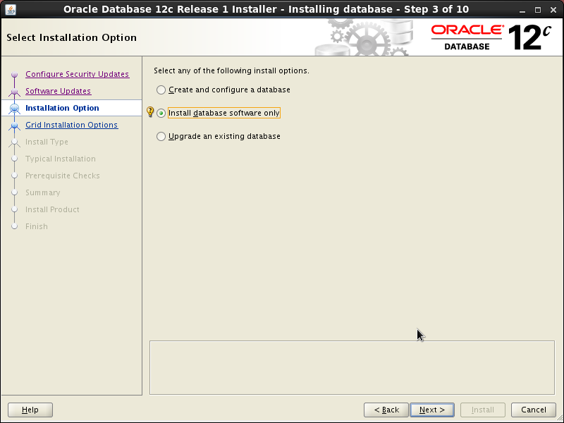 Screenshot-Oracle Database 12c Release 1 Installer - Installing database - Step 3 of 10
