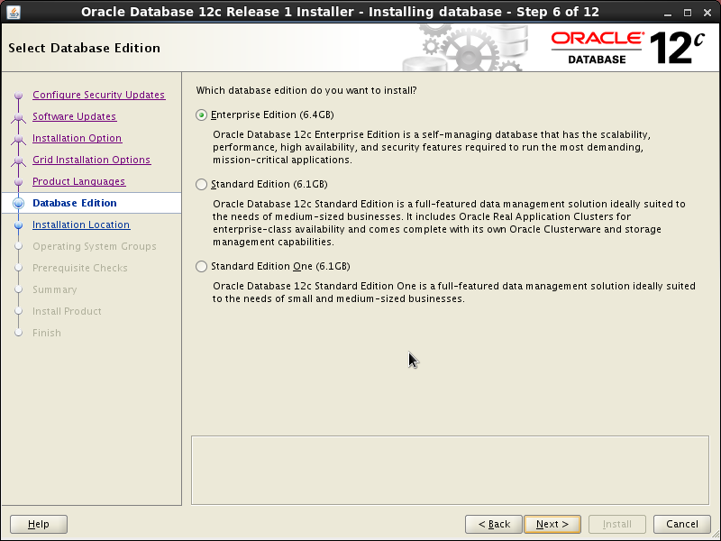 Screenshot-Oracle Database 12c Release 1 Installer - Installing database - Step 6 of 12