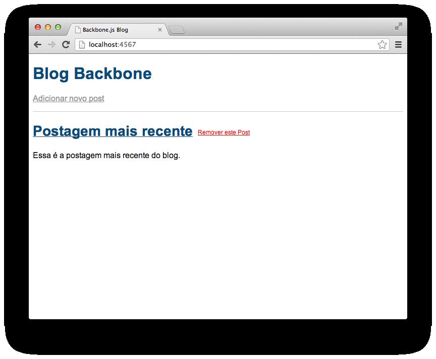 Página inicial do blog.