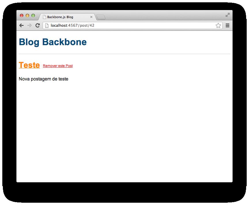 Visualização de postagem, a sua rota aparece na barra de endereços