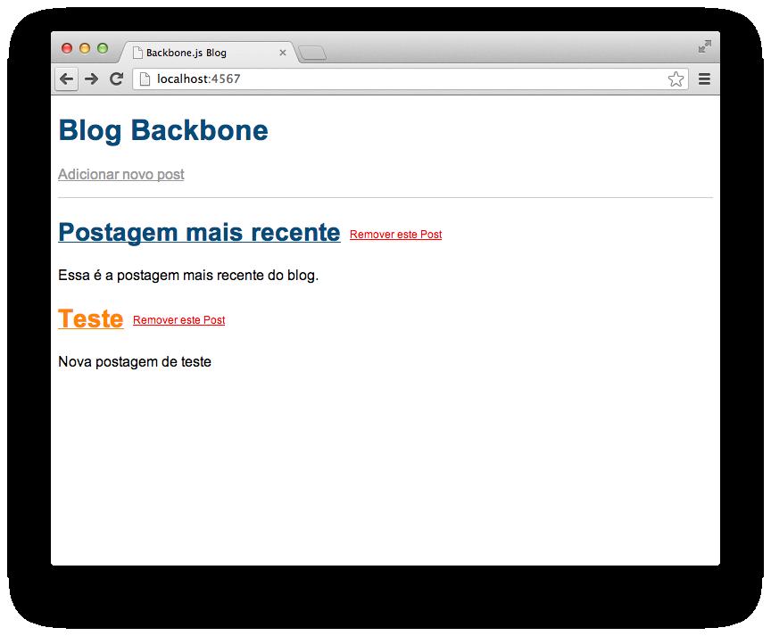 Listagem de postagens a partir do botão voltar do browser