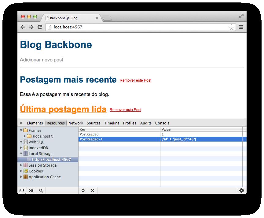 Informações do offline storage do Google Chrome