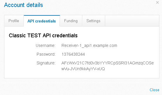 classicApiCredentials