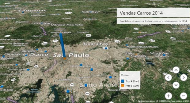 Figura 9 – Visão 3D das cidades