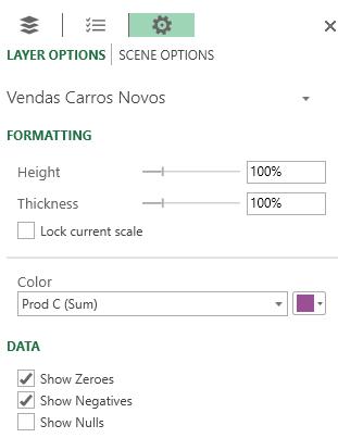 Figura 11 – Configuração do layer
