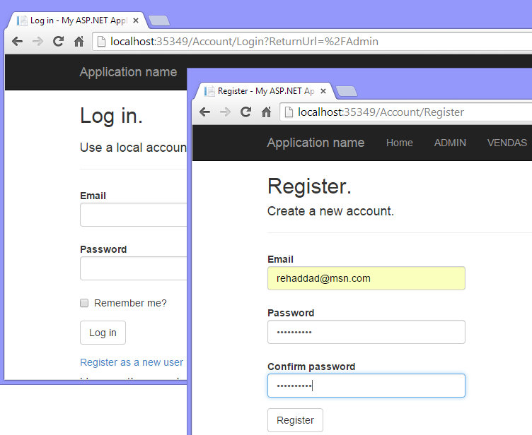 Figura 12 – Registro de Login.