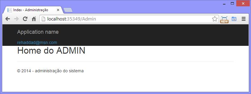 Figura 13 – Página do Admin logado.