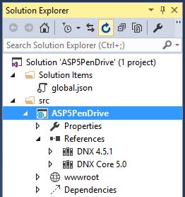 Figura 6 – Lista de frameworks instalados no References