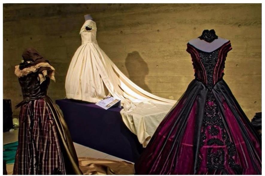 Para apresentar o projeto, os estudantes levaram vestidos usados pela Princesa Isabel produzidos com o próprio software
