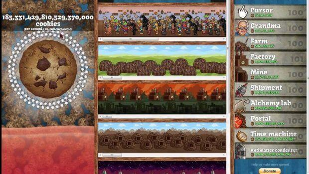 Um jogo (praticamente) sem fim onde você deve produzir quintilhões de cookies?