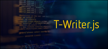 Efeito de digitação com T-Writer.js