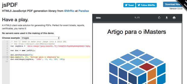 Gerando PDFs com JS | iMasters