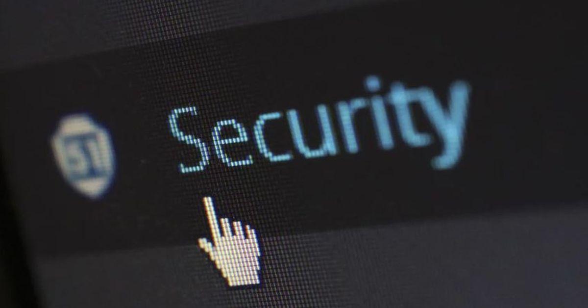 imagem de uma tela de computador coma palavra security, que significa segurança ou seguro em inglês